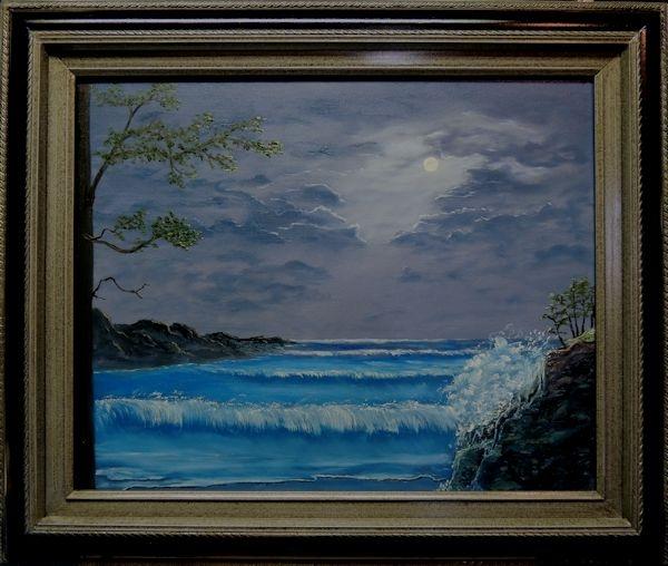 Moonlit Bay Framed